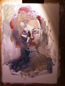 on my easel