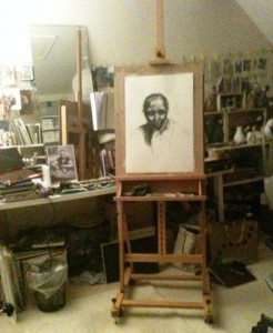 Getting to the easel