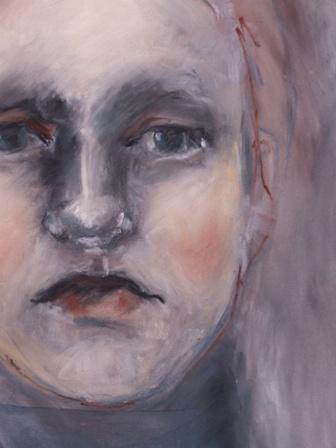 girl in blue detail