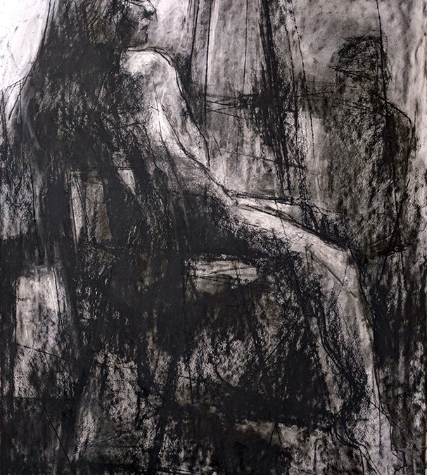 Gillian Lee Smith, Figure study, charcoal on paper, 23 x 16 inches (2017)